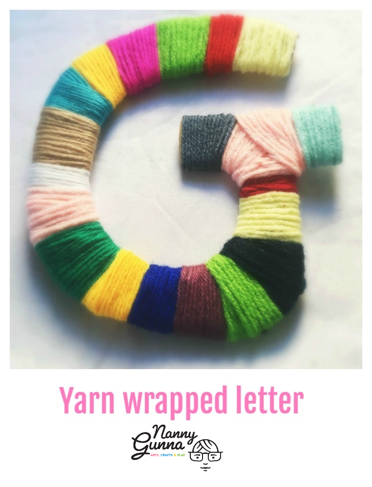 Yarn Wrapped Letter Nanny Gunna